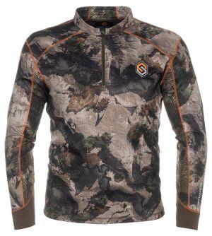 Savanna Aero Attack 1/4 Zip Shirt-Mossy Oak Terra Gila-Small