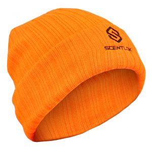 Carbon Alloy Knit Cuff Beanie-Blaze Orange