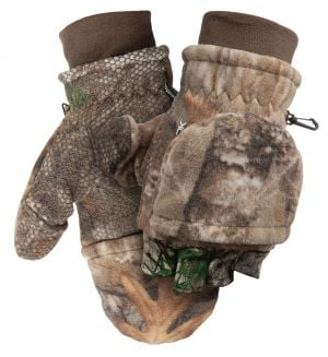 Fleece Pop-Top Glove-Realtree Edge-Medium