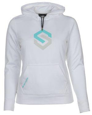 Womens Icon Logo Hoodie-White-Small