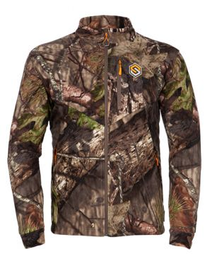 Wind Brace Windproof Fleece Jacket-Mossy Oak Break-Up Country-Small