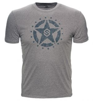 ScentLok Let Freedom Ring Tee-Heathered Grey-Small