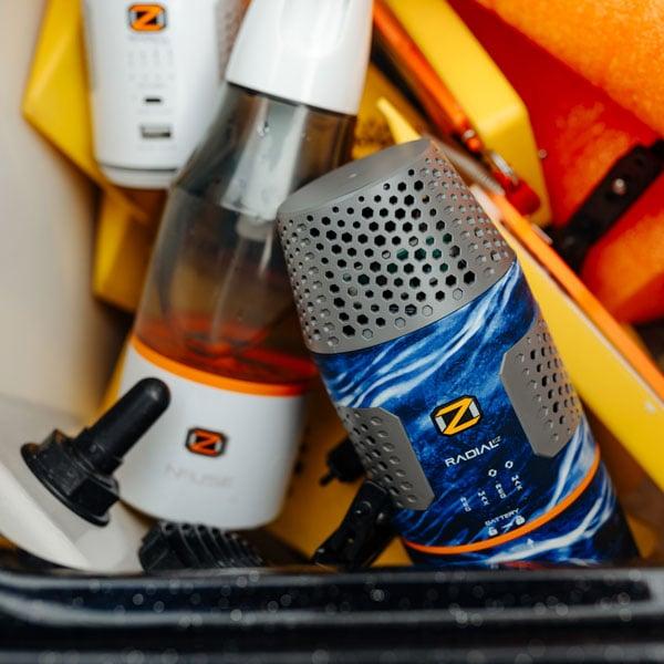 oz radial ez, oz radial nano and oz nfuse in boat storage