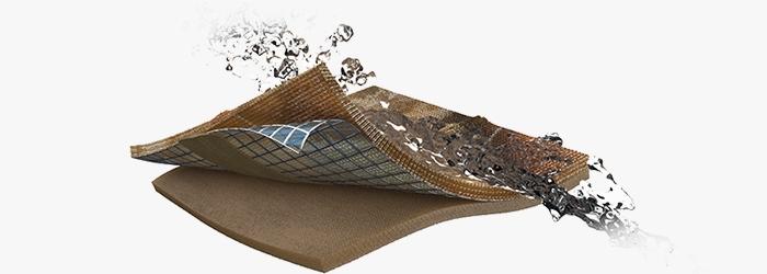 Waterproof membrane with taped seams